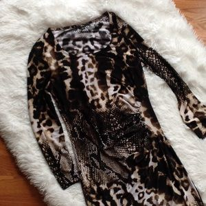 Cheetah/Snake Print Dress